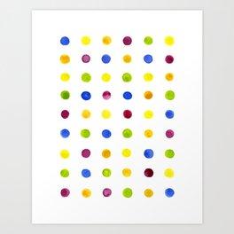 Candied Polka Dots Art Print