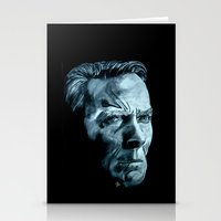clint eastwood Stationery Cards featuring Clint Eastwood by artbyolev