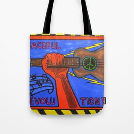 Ukes For Peace Tote Bag