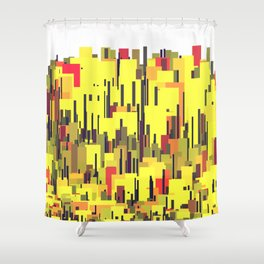 Skyline With Red, Yellow, Earth Tones (Dwitter d22503) Shower Curtain