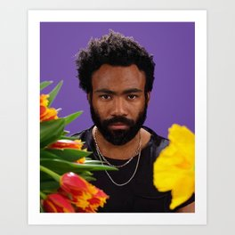 drawing of donald glover Art Print