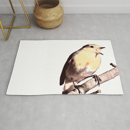 The Winter Robin Song Rug