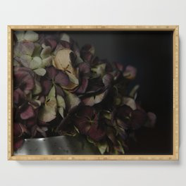 Dried hydrangea | Flower photography | Fine art photography | Art Print Serving Tray