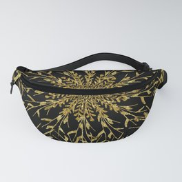 Black Gold Glam Nature Fanny Pack