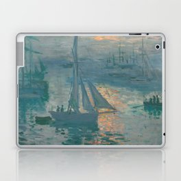 Claude Monet - Marine Sunrise, 1873 Laptop & iPad Skin