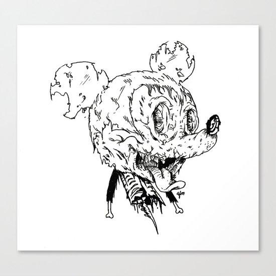 Zombie Mickey Canvas Print