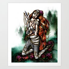 Astrology Illustration Series-Sagittarius Art Print