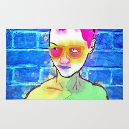 """The Wonderful Stank Eye"" By Nacho Dung. Rug"