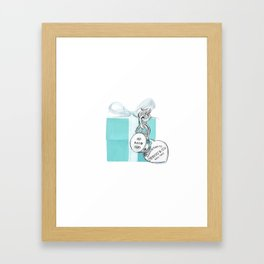 Blue Jewellry Box Framed Art Print