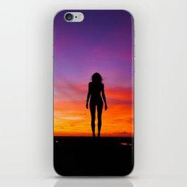 SUNRISE - SUNSET - WOMAN - BLACK - PHOTOGRAPHY iPhone Skin