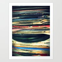 oil Art Prints featuring put your records on by Bianca Green