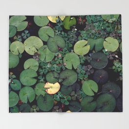 Lily Pads Throw Blanket