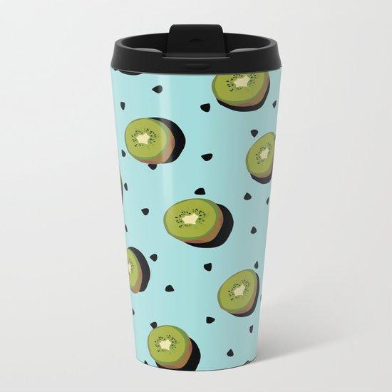 Kiwi Fruit Metal Travel Mug