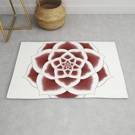 Stargazer Lily Mandala Rug