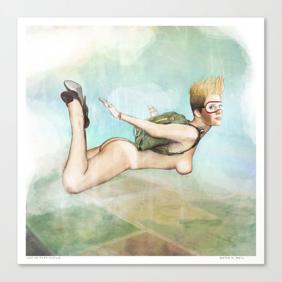 Not So Flat, Flying Canvas Print