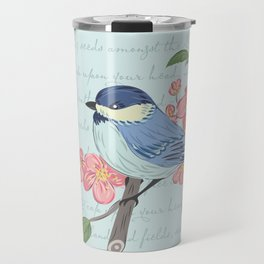 Blue Chickadee Travel Mug