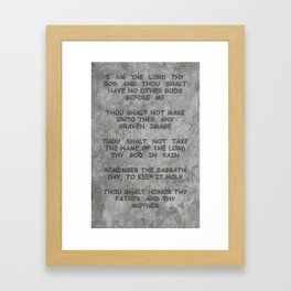 10 Commandments Faux Stone Tablet Case 1 of 2 Framed Art Print