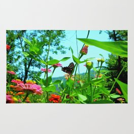 Butterfly with a View Rug