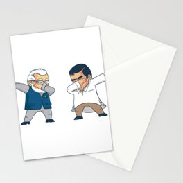 Peace with two men dabbenden Stationery Cards