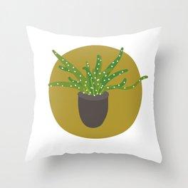 Simple Cactus 2. Throw Pillow