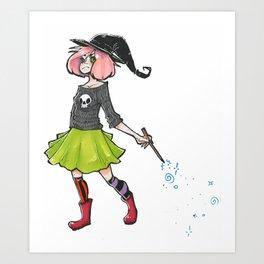 Witch Girl Art Print