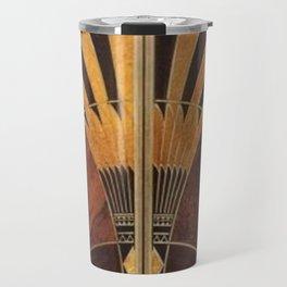 art deco wood Travel Mug