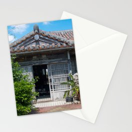 Traditional house in Okinawa Stationery Cards