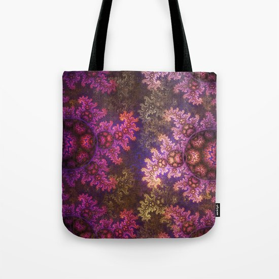 Dragon spirals ans Spheres in autumn colors Tote Bag