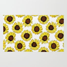 Sunflowers are the New Roses! - White Rug