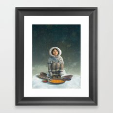 Winter Girl Framed Art Print