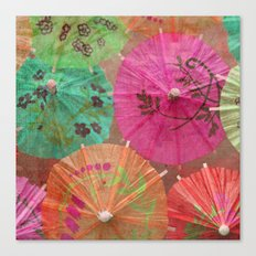 Parasols Tropical Punch Canvas Print
