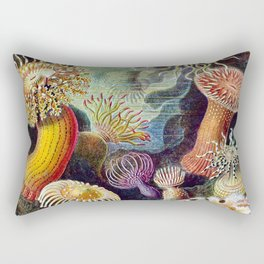 Anemones by Haeckel (Sea Plants and Flowers) Rectangular Pillow