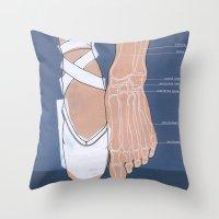 ballet Throw Pillows featuring ballet by Anne de Swart