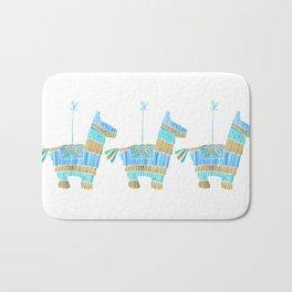 Mexican Donkey Piñata – Blue & Gold Palette Bath Mat