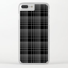 Back to School- Simple Handdrawn Grid Pattern- Black & White - Mix & Match with Simplicity of Life Clear iPhone Case