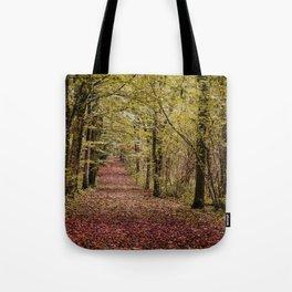 Autumn woodland scene Tote Bag