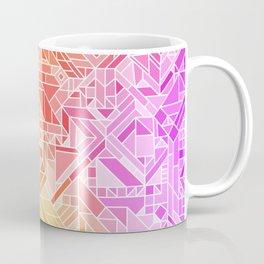 BRIGHT VIBRANT GRADIENT GEOMETRIC SHAPES RAINBOW PRINT TILED MOSAIC TIE DYE COLORFUL Coffee Mug