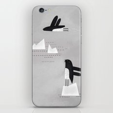is that penguin flying? iPhone & iPod Skin