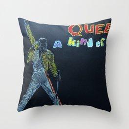 Freddie & Mercury A kind of Magic Tribute Throw Pillow