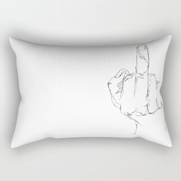 THINGS COLLECTION | MIDDLE FINGER Rectangular Pillow