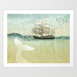 white tail, Moby Dick Art Print
