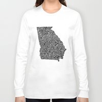 georgia Long Sleeve T-shirts featuring Typographic Georgia by CAPow!