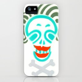 Skull_Happy Crazy Hair Lady iPhone Case