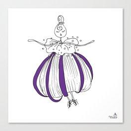 The purple sea-urchin Canvas Print