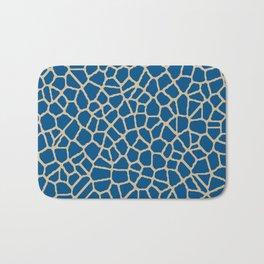 staklo (dark blue with coffee) Bath Mat