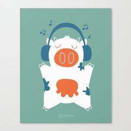 Music cow Canvas Print