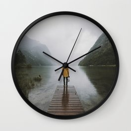 Mountain Lake Vibes - Landscape Photography Wall Clock