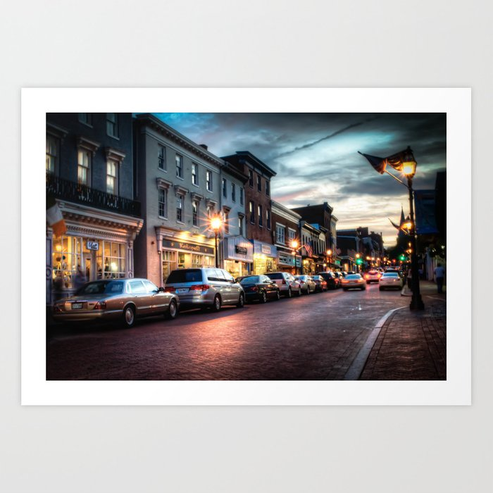 Downtown Annapolis Art Print
