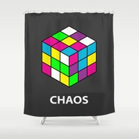 chaos Shower Curtains featuring Chaos by Dizzy Moments