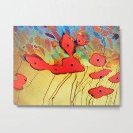 Glass Poppies Metal Print